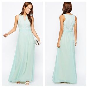 ASOS little mistress mint green maxi dress